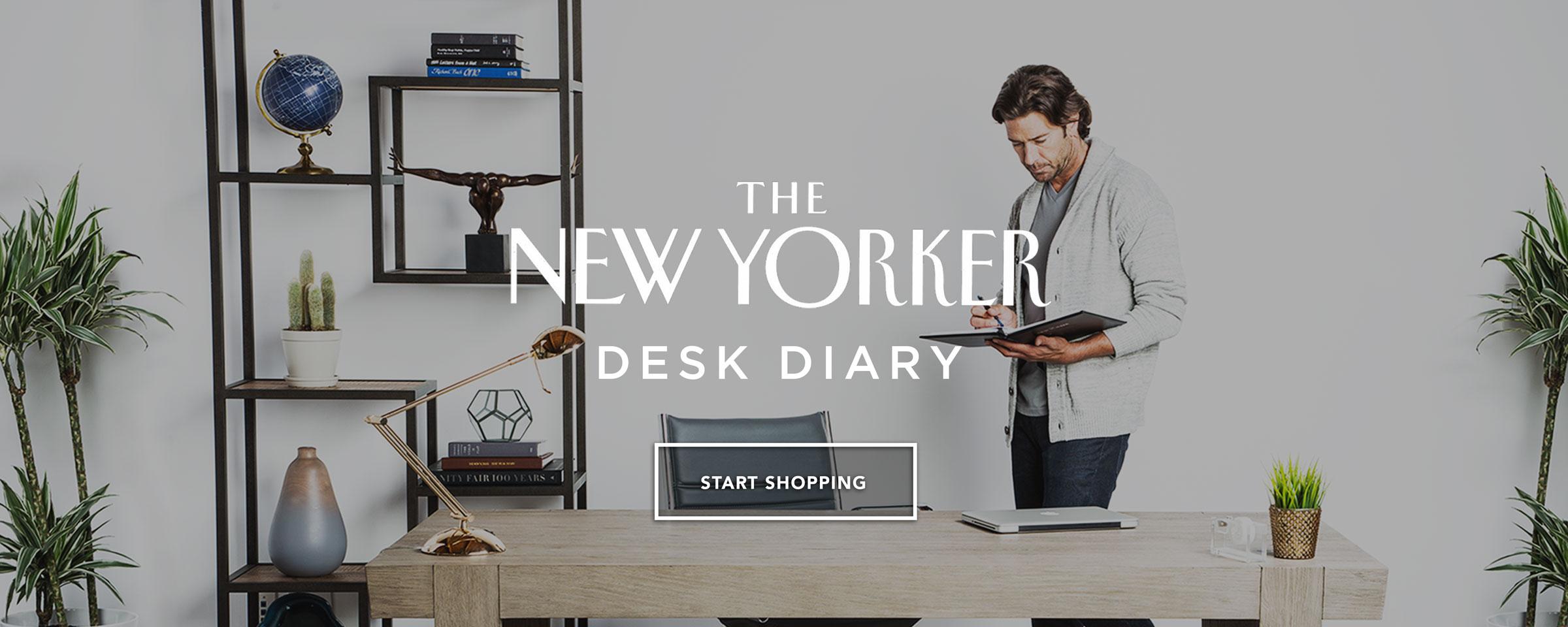 New Yorker Desk Diary Day Planner 2018