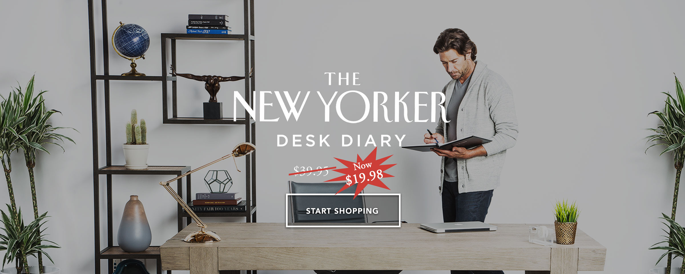 New Yorker Desk Diary Day Planner 2018